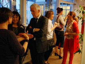 Shrewsbury attendees mingling